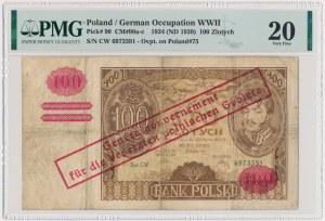 100 złotych 1934(9) - przedruk okupacyjny - C.W - PMG 20