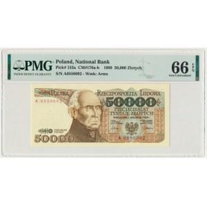 50.000 złotych 1989 - A - PMG 66 EPQ