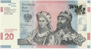 20 złotych 2015 - 1050 rocznica chrztu Polski