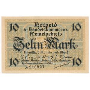 Memel (Kłajpeda), 10 marek 1922