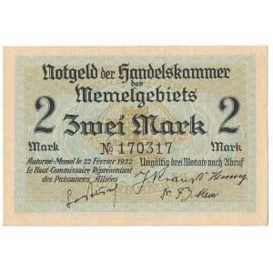 Memel (Kłajpeda), 2 marki 1922