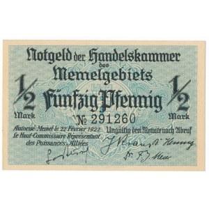 Memel (Kłajpeda), 1/2 marki 1922