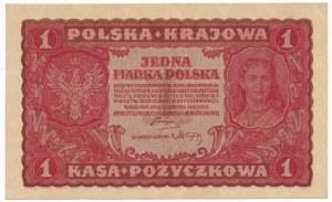 1 marka 1919 - I Serja A - rzadka, pierwsza seria