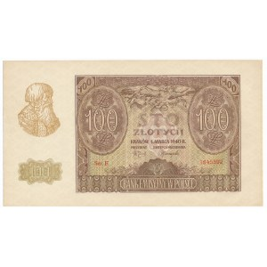 100 złotych 1940 - E -