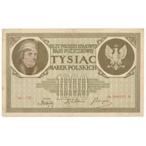 1.000 marek 1919 - Ser. ZR - małe S i wąska numeracja - rzadsza