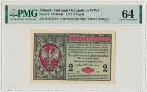 2 marki 1916 Generał - B - PMG 64