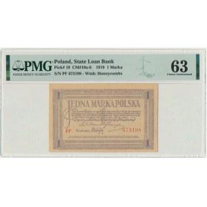 1 marka 1919 - PF - PMG 63