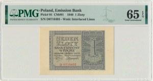 1 złoty 1940 - D - PMG 65 EPQ