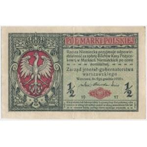 1/2 marki 1916 Jenerał - B - RZADKOŚĆ