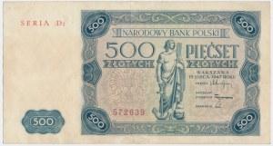 500 złotych 1947 - D2 -
