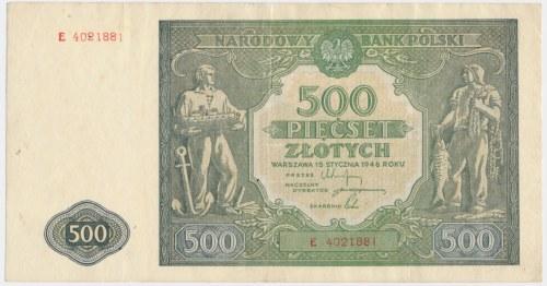 500 złotych 1946 - E -