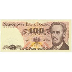 100 złotych 1975 - U - rzadka seria