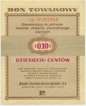 Pewex 10 centów 1960 - Db - z klauzulą