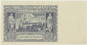20 złotych 1940 - bez numeratora