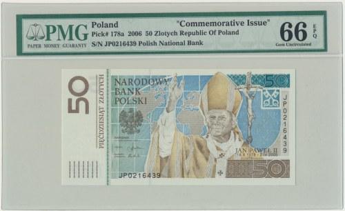 50 złotych 2006 - Jan Paweł II - PMG 66 EPQ