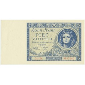 5 złotych 1930 - Ser. DK. -