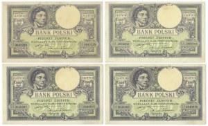 Zestaw, 500 złotych 1919 (4 szt.)