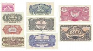 Emisja Pamiątkowa, 50 groszy -500 złotych 1944 (9szt.)