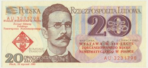 20 złotych 1982 - 150-lecie Zorganizowanego Ruchu Numizmatycznego