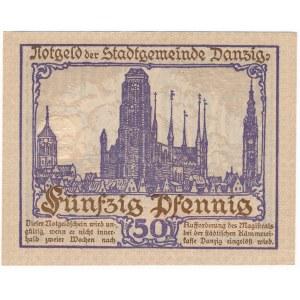 Gdańsk 50 fenigów 1919 - fioletowy