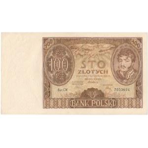 100 złotych 1934 - Ser.C.W. - seria nieodnotowana w ostatnim wydaniu katalogu Cz.Miłczaka
