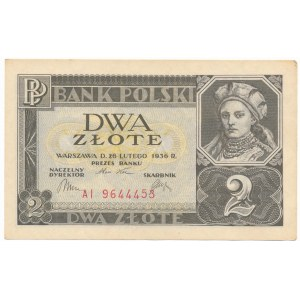2 złote 1936 - AI -