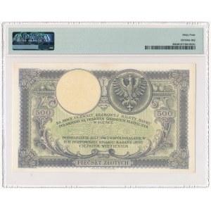 500 złotych 1919 - PMG 64 - niski numerator