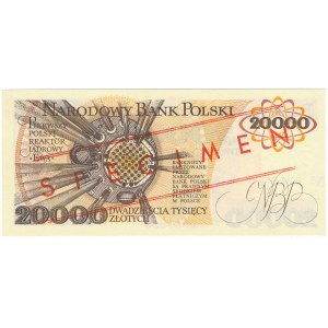 20.000 złotych 1989 WZÓR A 0000000 No.0340