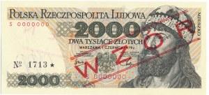 2.000 złotych 1979 WZÓR S 0000000 No.1713