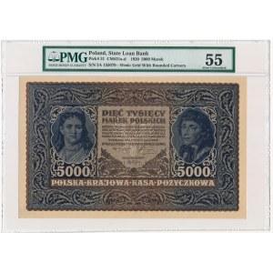 5.000 marek 1920 - III Serja A - PMG 55