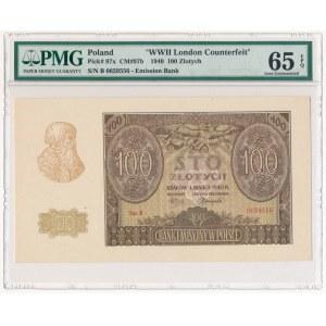 100 złotych 1940 ZWZ - B - PMG 65 EPQ