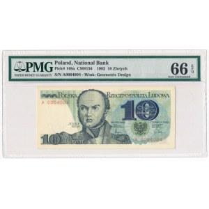 10 złotych 1982 - A - PMG 66 EPQ