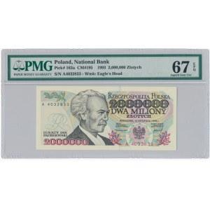 2 miliony złotych 1993 - A - PMG 67 EPQ