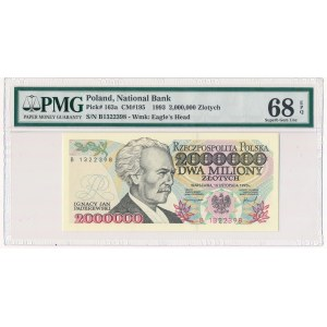 2 miliony złotych 1993 - B - PMG 68 EPQ
