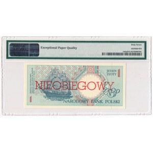 1 złoty 1990 - A - NIEOBIEGOWY - PMG 67 EPQ