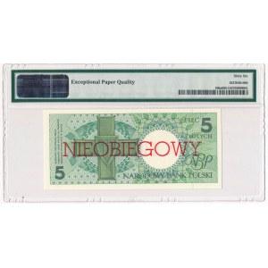 5 złotych 1990 - E - NIEOBIEGOWY - PMG 66 EPQ