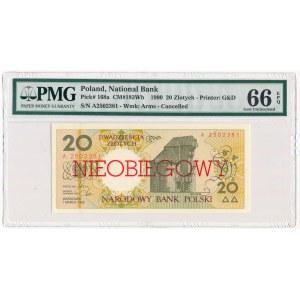 20 złotych 1990 - A - NIEOBIEGOWY - PMG 66 EPQ