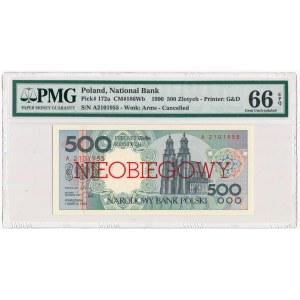 500 złotych 1990 - A - NIEOBIEGOWY - PMG 66 EPQ