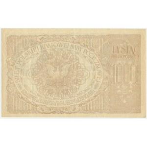 1.000 marek 1919 - Ser. ZX. - duże S i szeroka numeracja