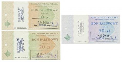 Zestaw Bonów Paliwowych 10-50 złotych (3 szt.)