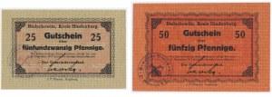 Bielschowitz (Bielszowice), 25 i 50 fenigów 1917