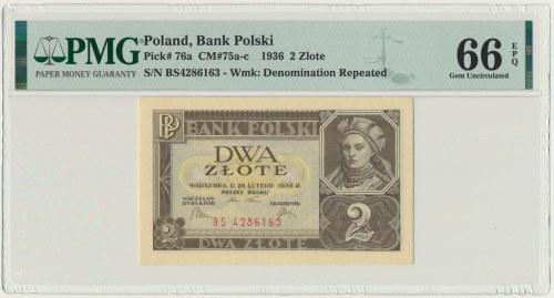 2 złote 1936 - BS - PMG 66 EPQ