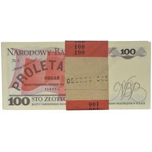 Paczka bankowa 100 złotych 1988 - TM - (100 szt.)