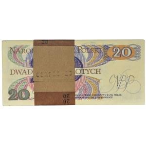 Paczka bankowa 20 złotych 1982 - AM - (100 szt.)