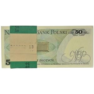 Paczka bankowa 50 złotych 1988 - HT - (100 szt.)