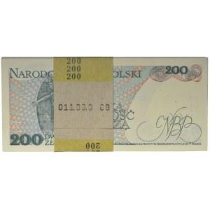 Paczka bankowa 200 złotych 1988 - EK - (100 szt.)