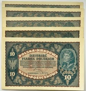 Zestaw 10 marek 1919 (4 szt.)