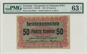 Poznań 50 kopiejek 1916 krótka klauzula (P2c) - PMG 63 EPQ