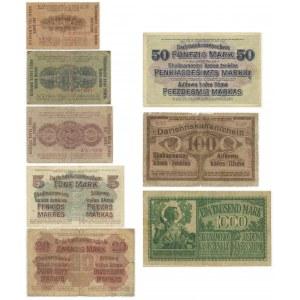 Kowno komplet 1/2-1000 marek 1918 (8 szt.)
