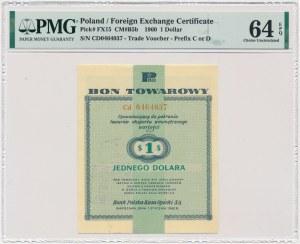 Pewex 1 dolar 1960 - Cd - z klauzulą - PMG 64 EPQ